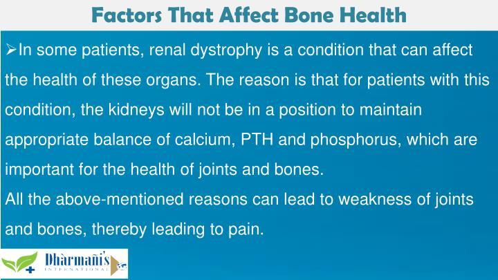 Factors That Affect Bone Health