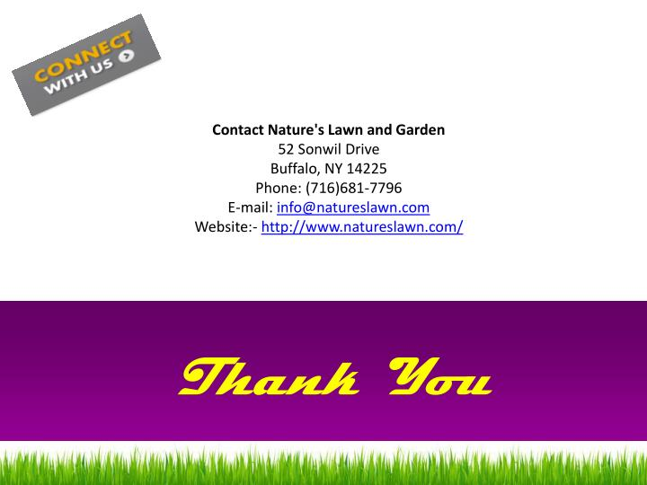 Contact Nature's Lawn and Garden