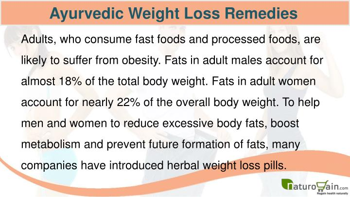 Ayurvedic Weight Loss Remedies