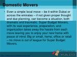 domestic movers