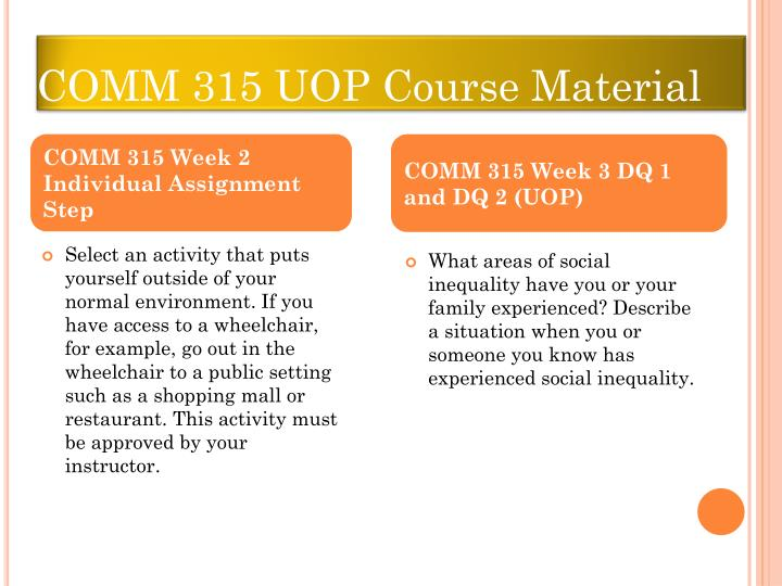 comm 315 course outline 2015 2