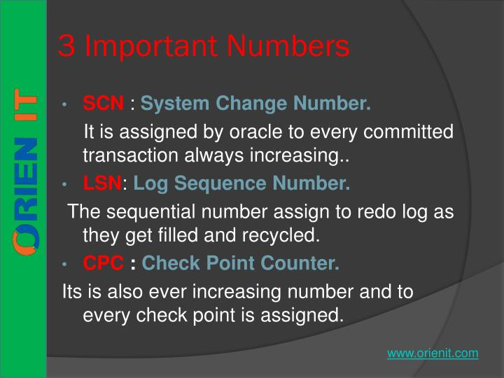 3 Important Numbers