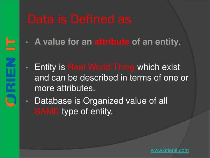 Data is Defined as