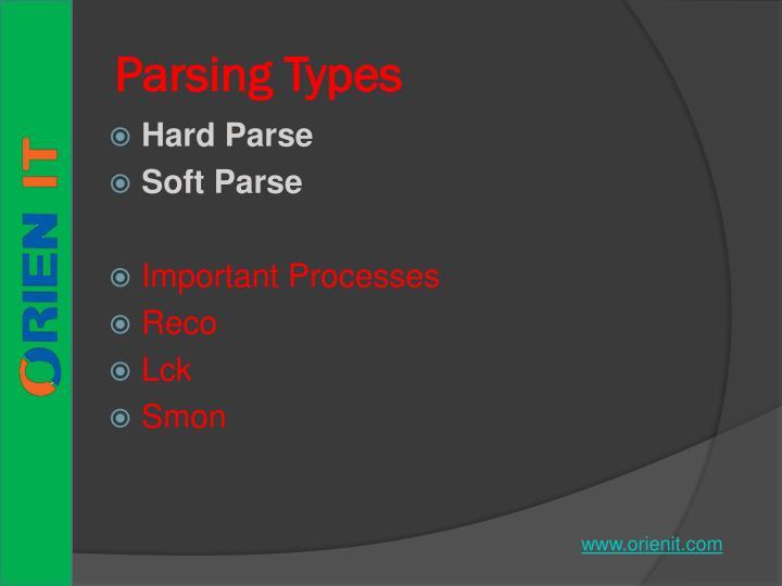 Parsing Types