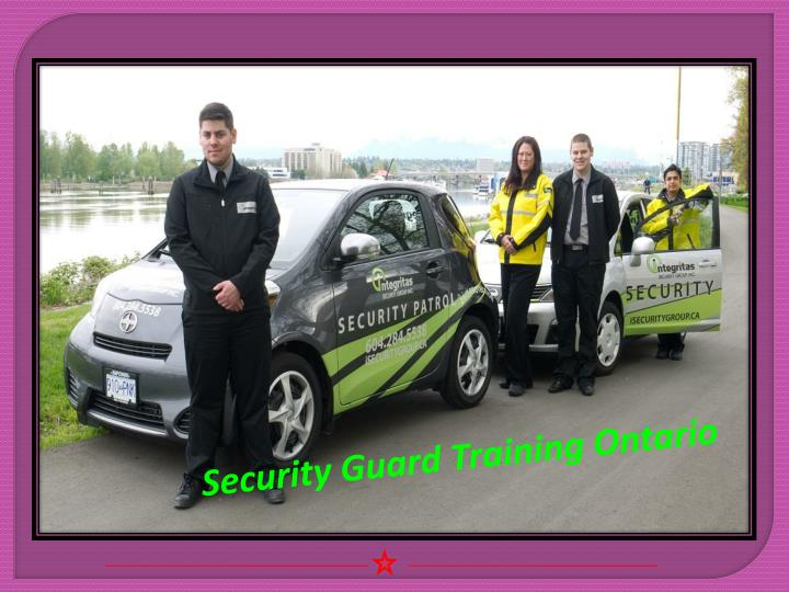 Security Guard Training Ontario