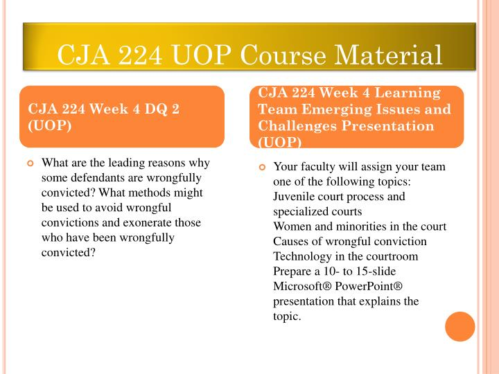 CJA 224 UOP Course