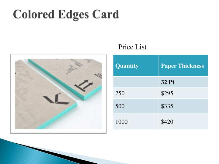Colored Edges Card