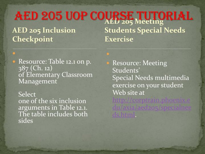 AED 205 UOP