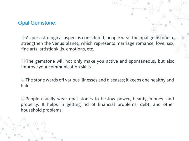 Opal Gemstone: