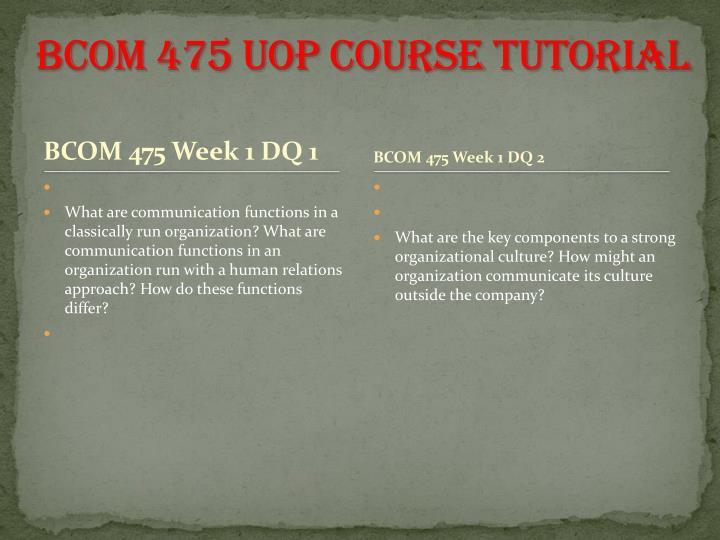 BCOM 475 UOP