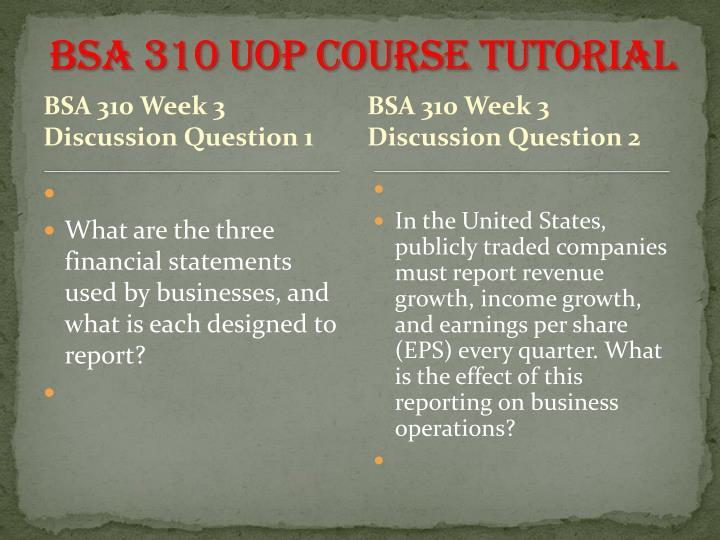BSA 310 UOP