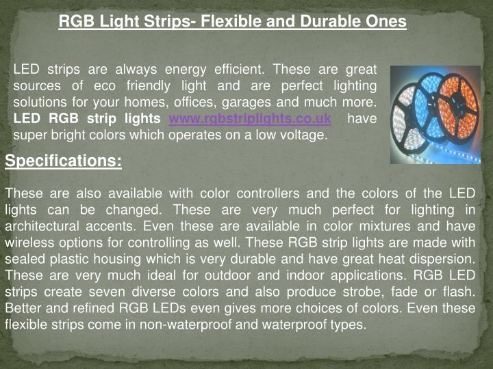 RGB Light Strips- Flexible and Durable Ones