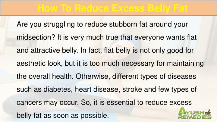 How To Reduce Excess Belly Fat