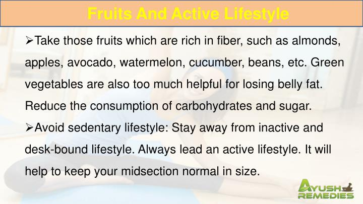 Fruits And Active Lifestyle