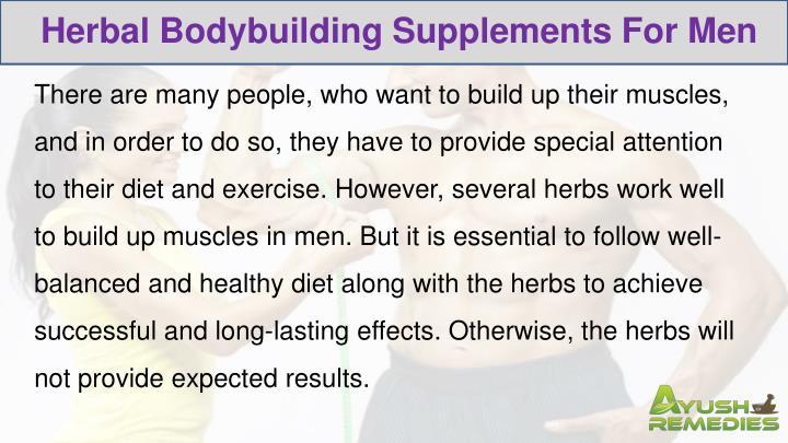 Herbal Bodybuilding Supplements For Men