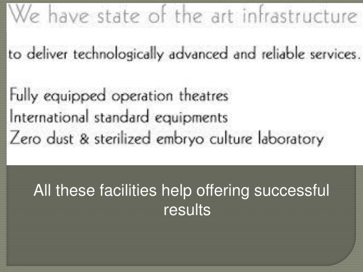 All these facilities help offering successful results