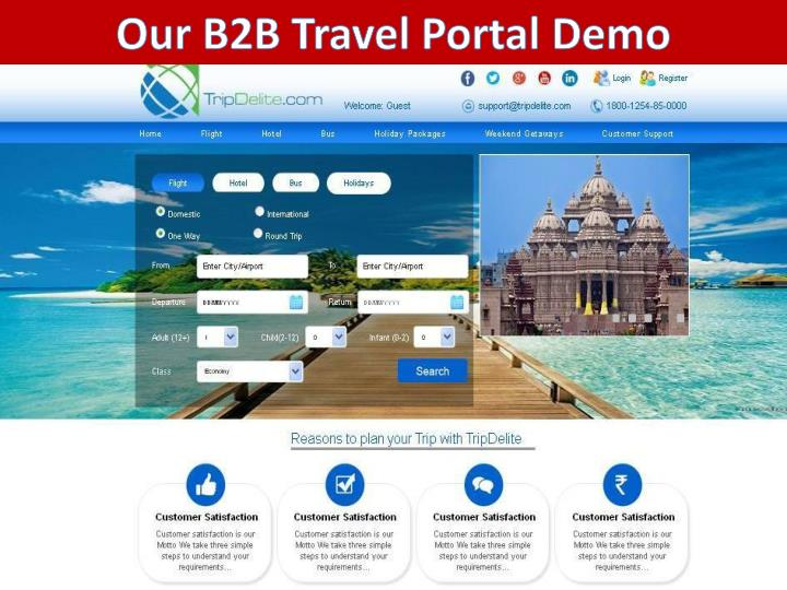 Our B2B Travel Portal Demo