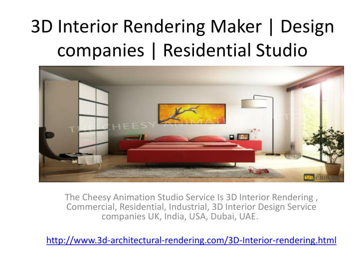 3d interior rendering maker design companies residential studio