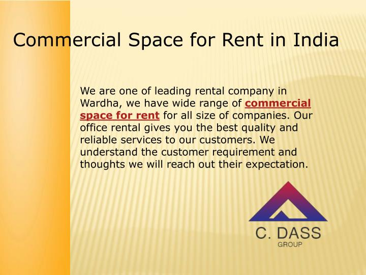 Commercial Space for Rent in India