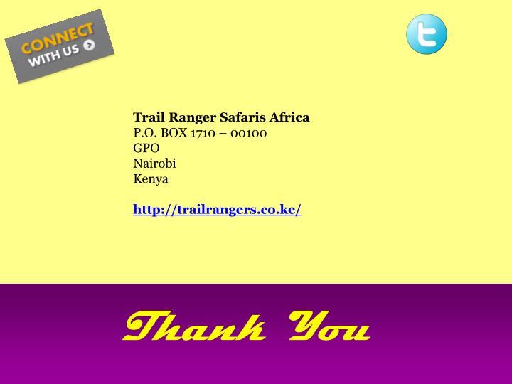 Trail Ranger Safaris