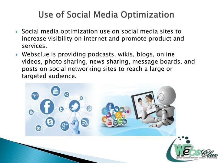Use of Social Media Optimization