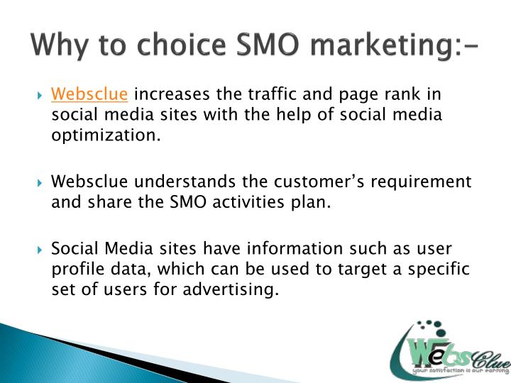 Why to choice smo marketing