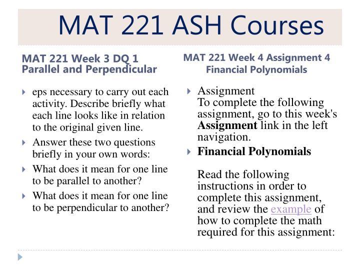 MAT 221 ASH