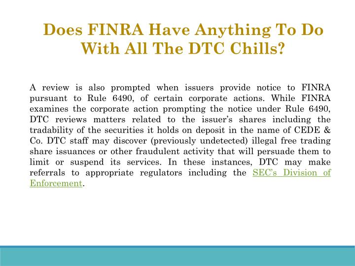 Does FINRA