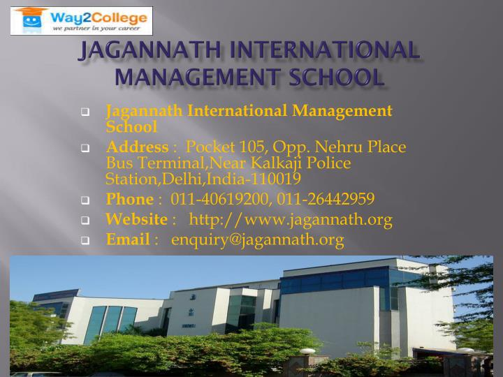 Jagannath International Management School