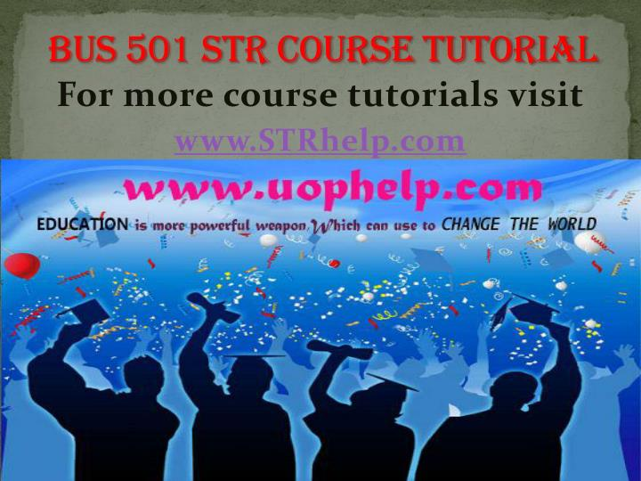 For more course tutorials visit www strhelp com