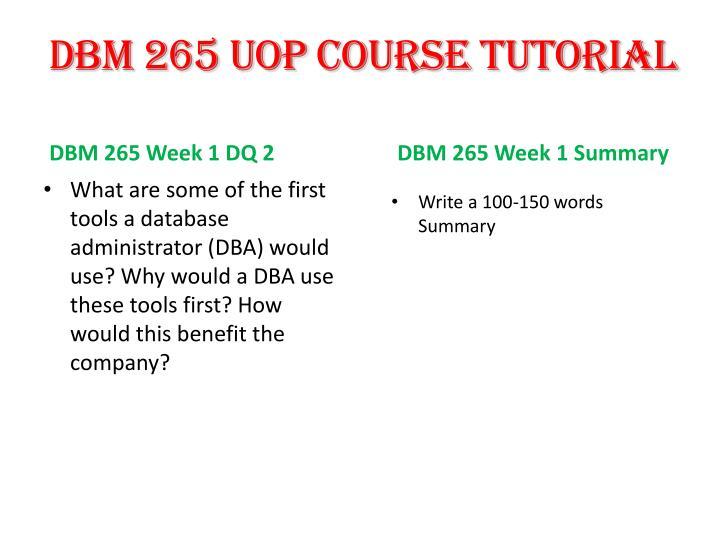 DBM 265 UOP
