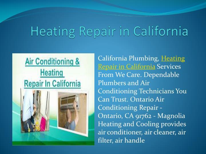 Heating Repair in California