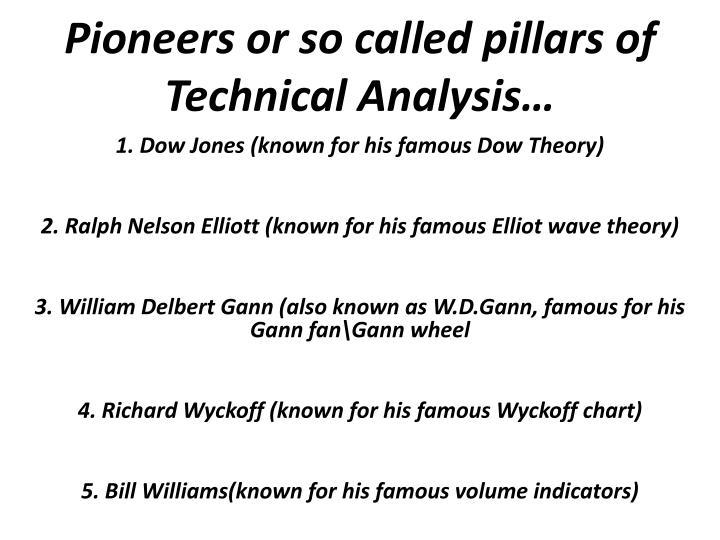 Pioneers or so called pillars of