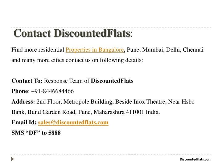 Contact DiscountedFlats