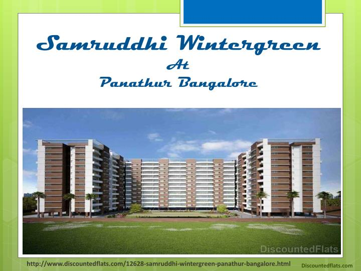 samruddhi wintergreen at panathur bangalore