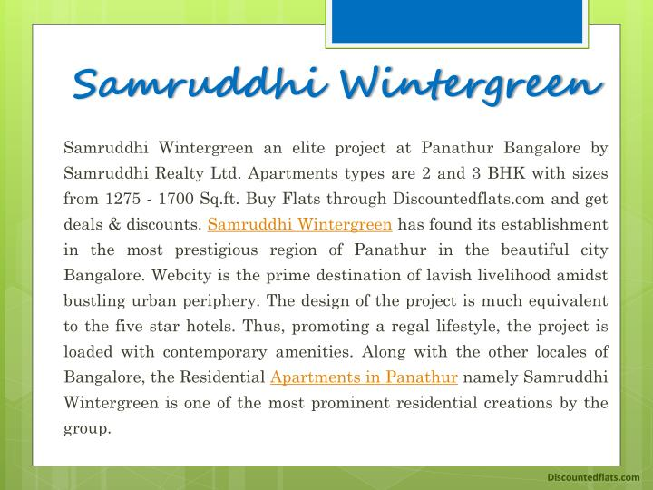 Samruddhi wintergreen