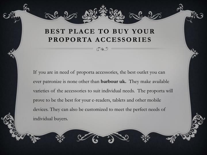 Best place to buy your