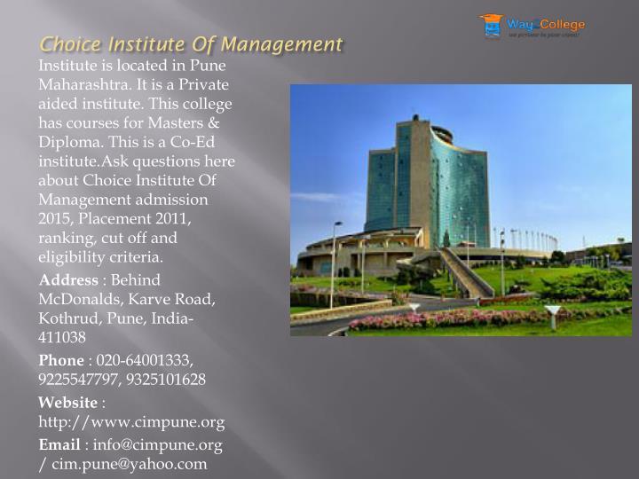 Choice Institute Of Management