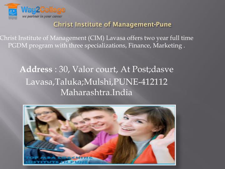 Christ Institute of Management-Pune