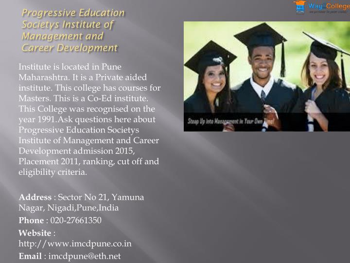 Progressive Education Societys Institute of Management and Career Development
