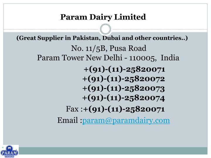 Param Dairy