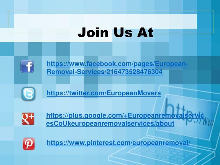 Join Us At