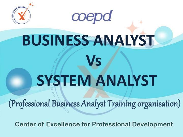 INSTITUTE OF BUSINESS ANALYST TRAINING