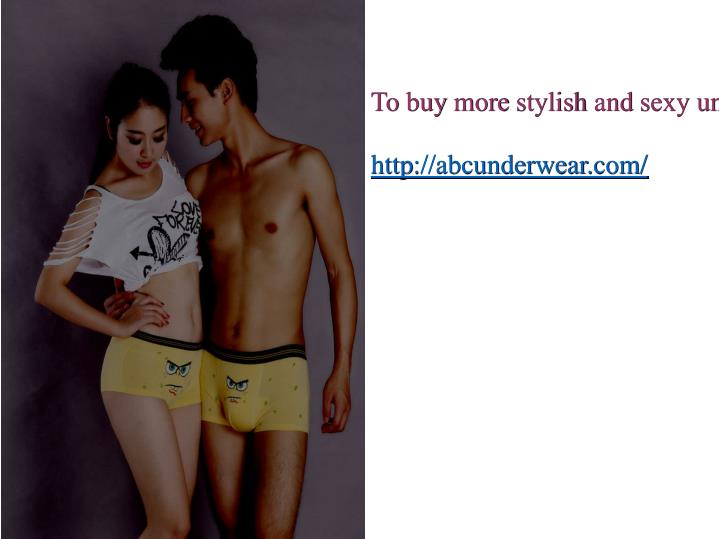 To buy more stylish and sexy underwear visit: