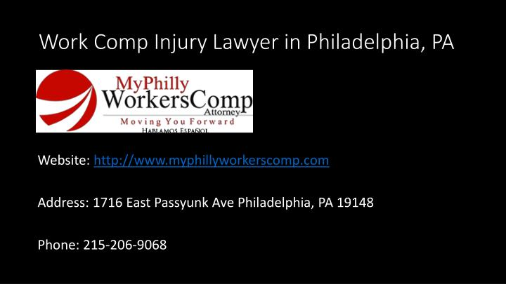 Work Comp Injury Lawyer in Philadelphia, PA