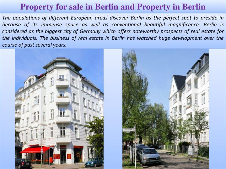 Property for sale in Berlin and Property in