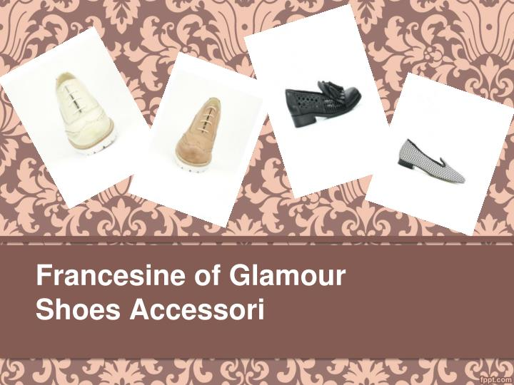 Francesine of glamour shoes accessori