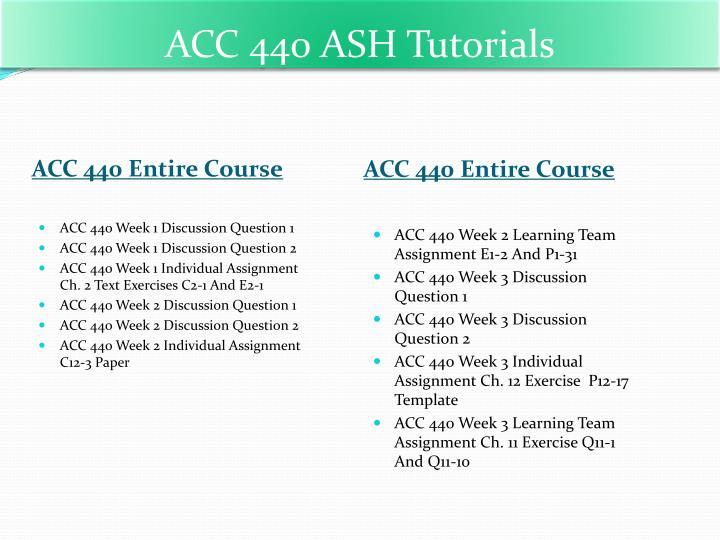 ACC 440 ASH
