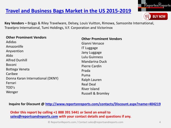 Key Vendors –