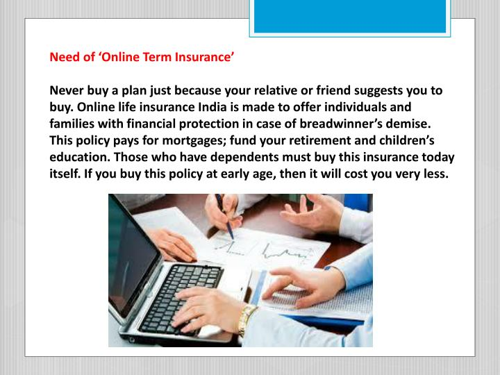 Need of 'Online Term Insurance